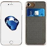 Muvit mucrc0006Coque transparente + porte-cartes pour Apple Iphone 7/6S/6, Couleur Gris