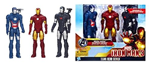 Figur Marvel Titan Hero Serie 3-pack Iron Man, Iron Patriot & War Machine