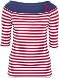 Küstenluder Damen Oberteil sibylla Streifen Shirt Rot S