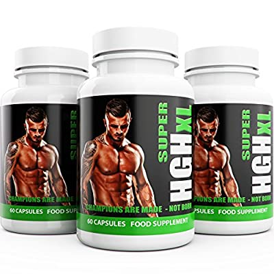 Testosterone Boosters for Men 3 Months Supply SUPER HGH XL Performance Enhancing 180 Capsules Bulk Pack Testosterone Booster Testro T3 from Natural Answers