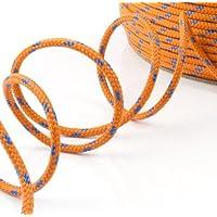 1m POLYPROPYLENSEIL 6mm ORANGE Polypropylen Seil Tauwerk PP Flechtleine Textilseil Reepschnur Leine Schnur Festmacher Rope Kunststoffseil Polyseil geflochten