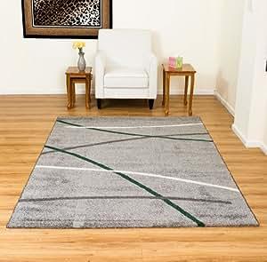moderne grau grun grau gemusterter teppich 200 x 290 cm k che haushalt. Black Bedroom Furniture Sets. Home Design Ideas