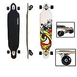 "VINGO®41"" Skateboard ABEC 7 Freestyle Streetsurfer 104cm Drop through Longboard 70er-Stil Downhilling Aluminium Trucks Komplettboard"
