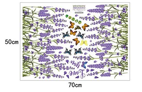 ZBYLL Wall Sticker Lavendel Baseboard Badezimmer Schlafzimmer Wohnzimmer dekorative Wand Aufkleber