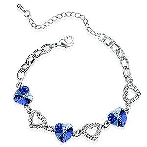 Armband Saphir Königsblau / silberfarben