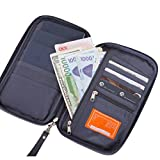 #3: TASLAR 3 Passport Holder, Passport Wallet, Travel Wallet Envelope Flip Cover Case Pouch For Men & Women, (Grey)