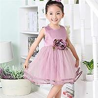 QTONGZHUANG Korean Kleid Mädchen Sommer Cool große Schaukel Taille Kleid