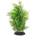 TOOGOO(R)Bambus Blaetter Form Dekoration Kuenstliches Gras fuer Aquarium - Gruen