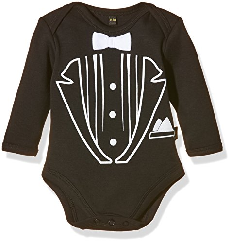 Rockabye-Originals Tuxedo bodysuit-Body Unisex - Bimbi 0-24, Black, 3-6 mesi