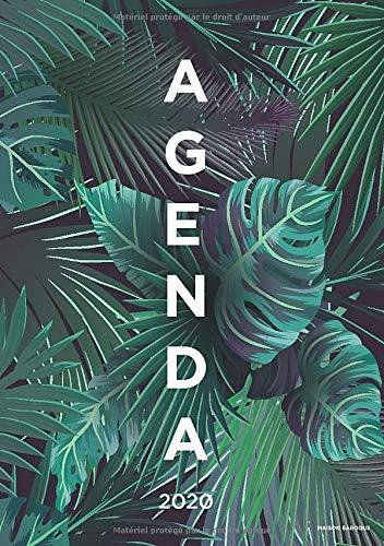 Agenda 2020: 12 mois Semainier 2020 - De Janvier a Décembre 2020 - Taille A5 - design palmiers par Maison Baroque