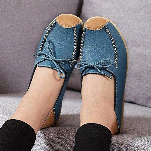 Transer  Dx-027, Sandales Compensées fille femme Bleu