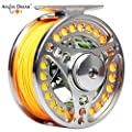 AnglerDream EX-ALC 3/4 5/6 7/8 9/10WT CNC Machined Large Arbor Fly Fishing Reel with Line Combo 3 5 8 9WT Fly Line Backing Leader from AnglerDream