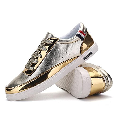 Hommes Baskets Mode Loisir Entraînement Chaussures de sport Chaussures plates Gold