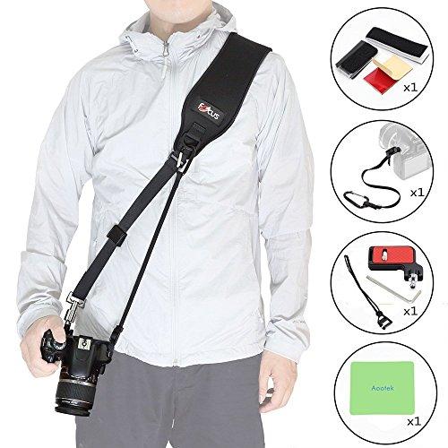 Focus F-2 Schwarz Schneller Rapid Strap Schulter Sling Gürtel Neck Strap für SLR DSLR Canon Nikon Sony Kameras mit 1/4