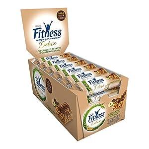 FITNESS Delice Cioccolato e Nocciola Barretta di Cereali Cioccolato al Latte Gusto Nocciola, 24 Pezzi 4 spesavip