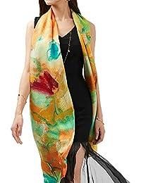 Las bufandas de las mujeres Primavera y verano bufanda Aire Mujeres elegantes Imprimir Graffiti acondicionado bufanda