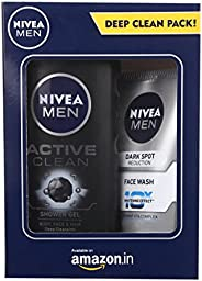 NIVEA Men Dark Spot Reduction Facewash, 100ml With NIVEA Active Clean Shower Gel, 250ml