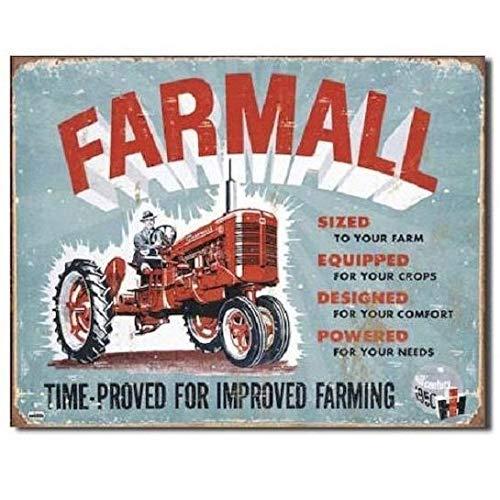 Farmall IH International Harvester Tractor Farm Vintage Model A Metal Tin  Sign TIN SIGN 7 8X11 8 INCH