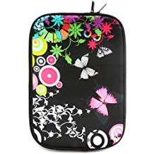 Emartbuy® Neopreno Resistente Case Zip Soft Midnight Butterfly Jungle Water / Case / Carcasa / Funda / Cubierta Para Sony VAIO Duo 13 Convertible Ultrabook (13-14 Inch Laptop / Notebook)