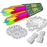 200 Knicklichter KNIXS inkl. 200 x 2D-Verbinder, 4 x Kreisverbinder, 4 x 7-Loch-Verbinder im 6-Farb-Mix, in Profiqualität, Testnote: 1,6