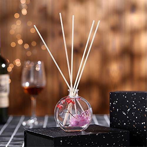 xue binghualoll Hauptdekoration,Reed Oil Diffusoren mit natürlichen Sticks, Glasflasche und Duftöl 100ml -