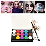 Schminke Make-Up, Kinderschminke 15 verschiedene Farben Profi Palette Ideal für Kinder, Parties, Bodypainting Halloween Make-up