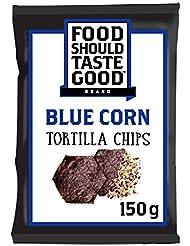 Food Should Taste Good Blue Corn Gluten Free Tortilla Chips 150 g