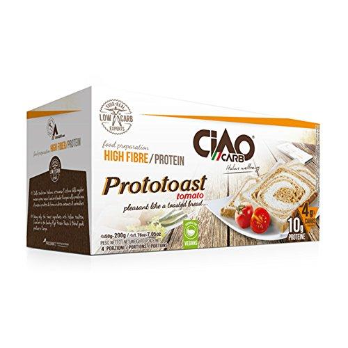 Ciaocarb iaf00073029 prototoast stage 2, 4 confezioni da 50 g, pomodoro