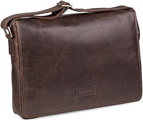 dbramante1928 Marselisborg Hochwertige Messenger Bag Ledertasche mit Verstellbarem Schultergurt für Laptops und Apple MacBooks bis 14