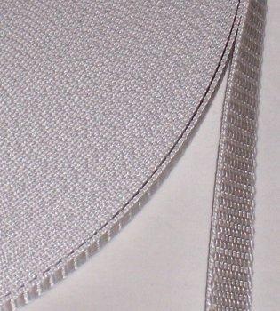 Preisvergleich Produktbild 50 m Rolle Rolladengurt - grau - Breite 14 mm - hohe Reißfestigkeit - UV Beständigkeit - Schmutzunempfindlichkeit - beste Scheuerfestigkeit - Perlonkantenschutz