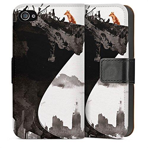 Apple iPhone 5 Housse étui coque protection Horizon Ville Art Sideflip Sac