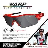 VeloChampion Warp Cycling Sunglasses Running Shooting Sports Glasses - Red Bild 2
