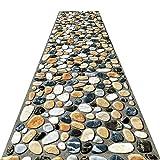 QiangDa Läufer Flur Teppich Langes 3D Entry Teppiche Steinmuster Schmutzabweisend Nicht Skid Schneidbar, Mehrere Größen, Anpassbare (Farbe : A, größe : 0.8 x 4m)