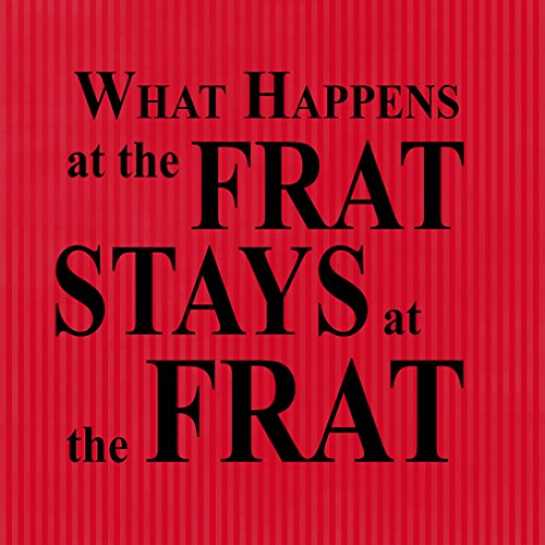'What Happens at the Frat rimane al FR?' Divertente novità metal Sign Wall Decor 12 x 12 inch Sandali Adventure Seeker, punta chiusa - T - Bambini