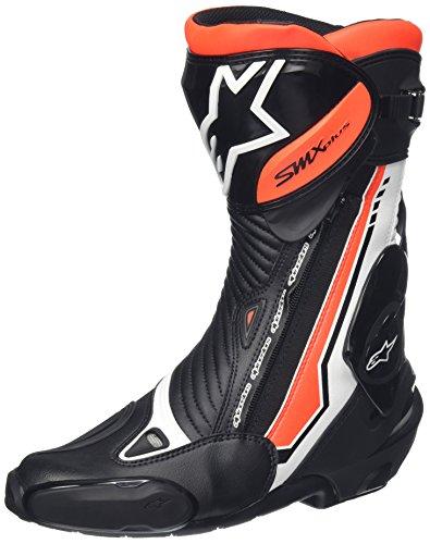 Botas Racing Alpinestars Moto smx-plus Edición Limitada Black Friday Gear 44 BIANCO-NERO-ROSSO FLUO