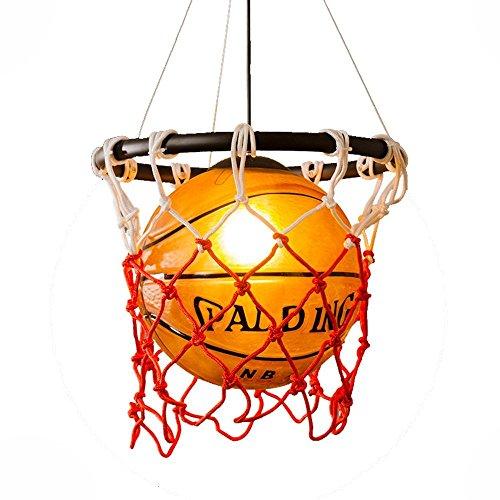 Decke Anhänger-beleuchtung (Kreative Acryl Basketball Und Nets Pendelleuchte Home Loft Deco-Decken-Lampe Mit E27 Birne Retro Vintage Hängeleuchte Anhänger Hängelampe Innen Decke Beleuchtung Leuchte Wohnzimmer Esszimmer Bar)