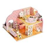 Puppenhaus Möbel Rosa mit Staubschutz Günstige Spielzeug für Kinder