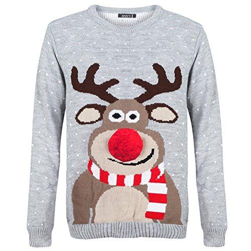 Weihnachtspullover für Damen und Herren, 70er-Jahre-Vintage-Design Gr. Medium, -