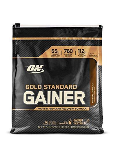 Optimum Nutrition - Gold Standard Gainer proteine e Carb recupero Formula colossale cioccolato - 5 lbs. - 511kkL8sjDL
