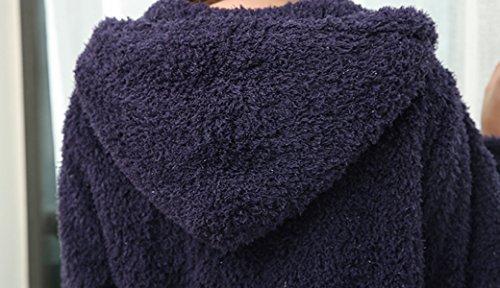 Ladies Luxury Flannel Pyjama Doux Robe De Douche Confortable Et Chaleureuse Adultes Châle Collier Couple Peignoirs Robe En Mousseline De Soie blue