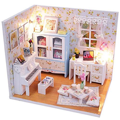 Mudacun Miniatur-Holzhaus Kit DIY 3D Handmade Architekturmodell Geburtstags-Geschenk für Kinder