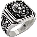 Special Lion Gothic Biker Solid 925 Stelring Silver Turkish Handmade Retro Men's Ring