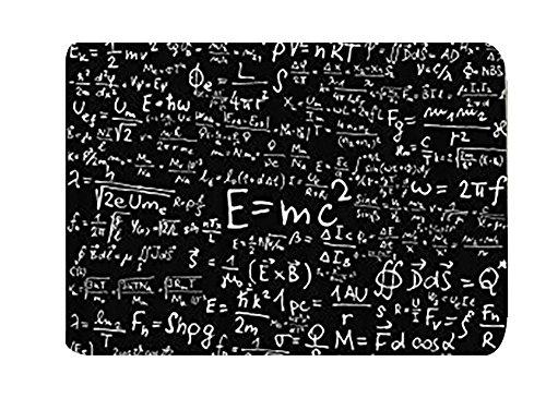 Think Yes Einstein Physik Formel Wissenschaft Geek Schwarz Weiß Stoff Duschvorhang Geschenk Elusive zu Ihrer Call, Polyester-Mischgewebe, color4, 40 x 60 cm - Wissenschaft Duschvorhänge