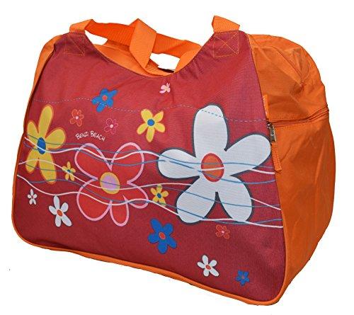 Bolsa de playa grande o mediano o pequeño * * * Azul/Rojo/Amarillo/Verde Lima/Naranja/Azul/Morado/Verde * * * Flores verano bolsa de crucero Picnic de viajes de vacaciones, color, talla Talla Unica