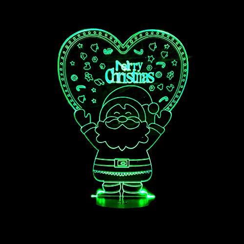 YDBDB Nachtlicht Santa 3D Nachtlicht Weihnachtsgeschenk Led Lampe Kreatives Geschenk Nachtlicht Usb Led 3D Leuchten