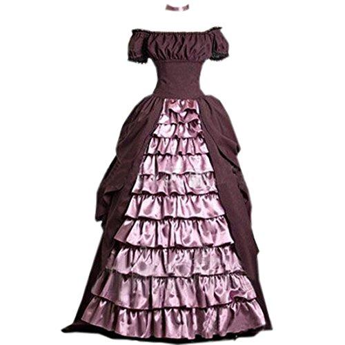 Partiss Damen Cupcake Rueschen Gothic Hochzeitskleid Viktorianisch Kostuem,S,As (Cupcake Kostüm Damen Halloween)