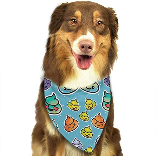 Rghkjlp Cute Rainbow Poo Pet Bandana Triangle Dog Cat Neckerchief Bibs Scarfs Accessories for Pet Cats and Baby Puppies (Hausgemachte Kostüme Für Babys)