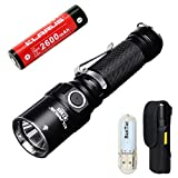 Klarus ST15 Taschenlampen CREE XP-L HI V3 LED 1100 Lumen Taschenlampe Doppelter Schalter Watereproof tragbare Taschenlampe für Outdoor Sports EDC Taschenlampen Mit wiederaufladbarer Batterie 18650