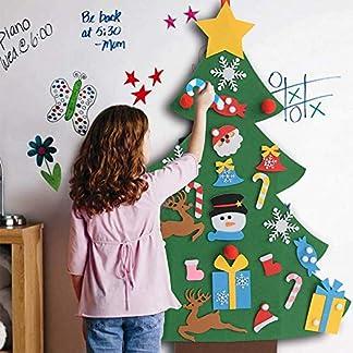 Ginkago Led Fieltro Árbol de Navidad, DIY Decoración del árbol de Navidad Decoración Colgante para NiñosChristmas Ornamento de Adorno LED Luces de Navidad (A)