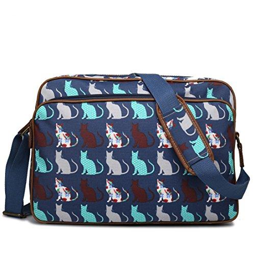 miss-lulu-matte-finish-oilcloth-cat-dog-galaxy-universe-satchel-messenger-bag-cat-navy